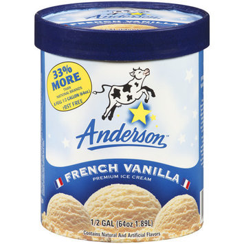 Anderson French Vanilla Premium Ice Cream, 64 oz