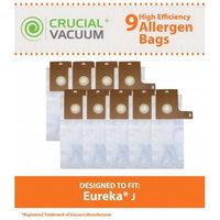 Crucial Vacuum 9 Eureka J Bags, Part # 61515C-6