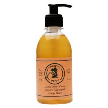 Ancient Olive Natural Olive Oil & Laurel Oil Liquid Soap, Orange Flower, 10.1 oz