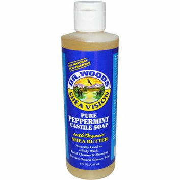 Dr. Woods Shea Vision Pure Castile Soap Peppemint with Organic Shea Butter 8 fl oz
