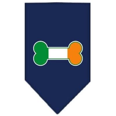 Mirage Pet Products 6617 SMNB Bone Flag Ireland Screen Print Bandana Navy Blue Small