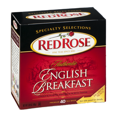 Red Rose English Breakfast Tea - 40 CT
