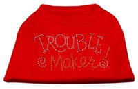 Mirage Pet Products 5280 MDRD Trouble Maker Rhinestone Shirts Red M 12