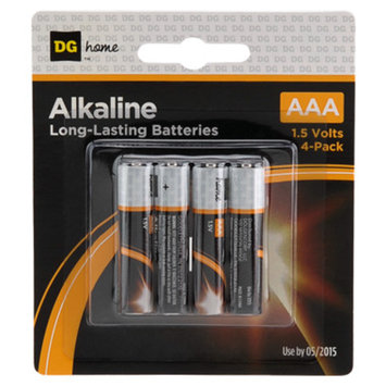 DG Home AAA Alkaline Batteries - 4-Pack