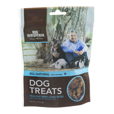 Dog Whisperer with Cesar Millan Dog Treats Healthy Beef Lung Bites