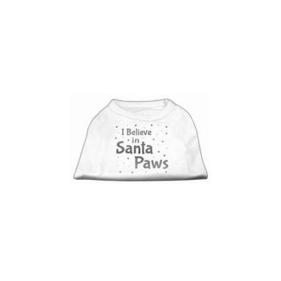 Ahi Screenprint Santa Paws Pet Shirt White Lg (14)