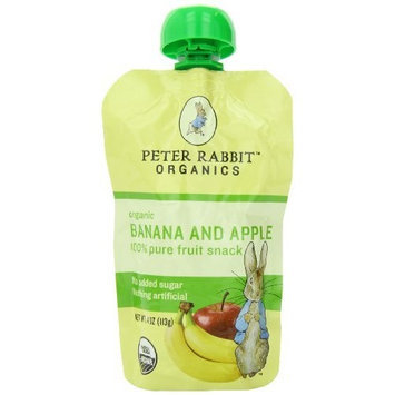 PETER RABBIT ORGANICS 100% Fruit Snack, Banana and Apple, 4.0-Ounce (Pack of 10)