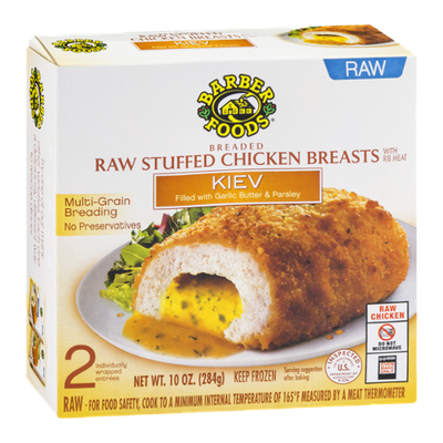 Barber Foods Raw Stuffed Chicken Breasts Kiev - 2 CT