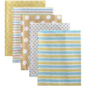 Luvable Friends 5 Pack Flannel Receiving Blankets - Yellow