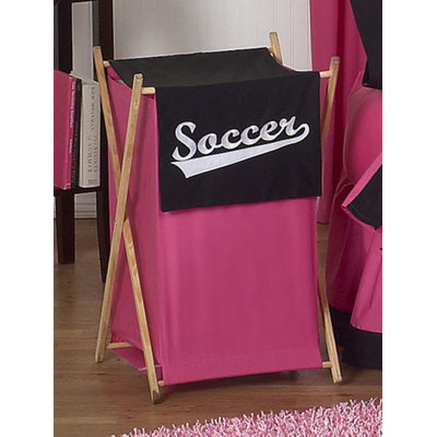 Sweet Jojo Designs Soccer Pink Collection Laundry Hamper