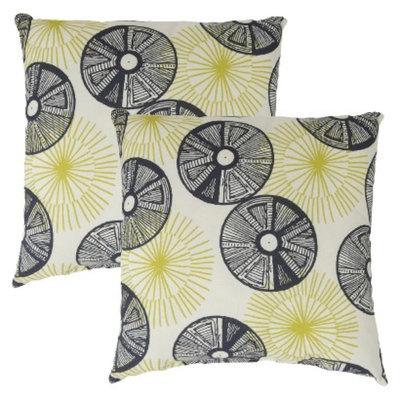 Threshold 2-Piece Square Outdoor Toss Pillow Set - Navy Circles