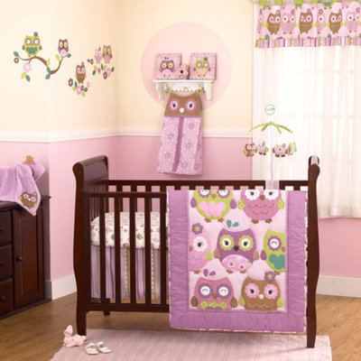 CoCaLo CoCo & Company Owl Wonderland 4-Piece Crib Bedding Collection Value Bundle