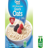 Great Value: Oven-Toasted Quick Oats, 42 Oz