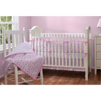 Baby Boom Mosaic Girl 5pc Crib Bedding Set