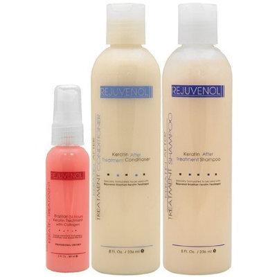 Rejuvenol Keratin Shampoo 8oz + Conditioner 8oz + 24 Hour Treatment 2oz Combo Set