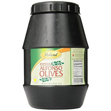 Roland Pitted Alfonso Olives, 4-Pounds Jar