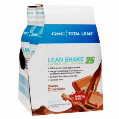 GNC Total Lean Shake 25, Swiss Chocolate, 4 ea