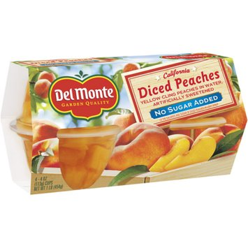 Del Monte No Sugar Added Diced Peaches Packed in Water 4-pk.