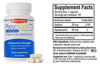Quincy Bioscience - Prevagen 40 mg. - 30 Capsules