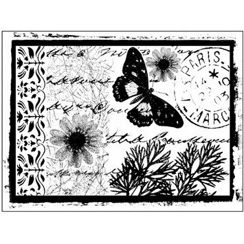 Cam Consumer Products, Inc. Crafty Individuals Unmounted Rubber Stamp Parisian Butterfly