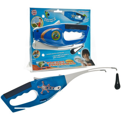 Small World Toys Pocket Fisherman Spin Casting Fishing Kit for Kids