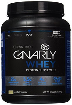 Blue Earth Nutrition Gnarly Nutrition - Whey Protein Grass Fed Vicious Vanilla - 32 oz.