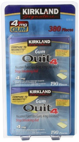 Kirkland Signature 4 mg. 2 pk Gum 190 Pieces Per Pack