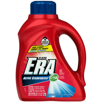 Era 2X Ultra Active Stainfighter Formula Regular Liquid Detergent 32 Loads 50 Fl Oz