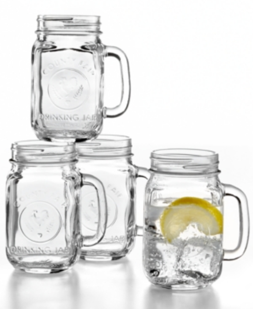 The Cellar Everyday Set of 4 Mason Jar Mugs