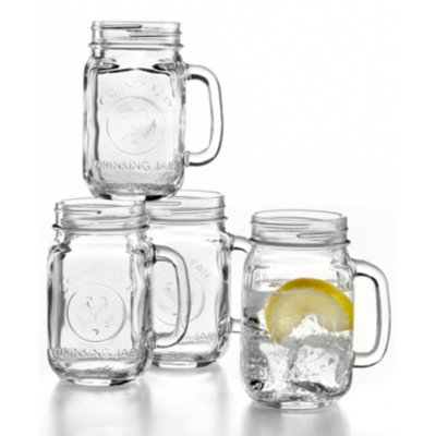 The Cellar Everyday Set of 4 Mason Jar Mugs