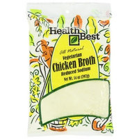 Health Best Broth Chicken Vegetarian Low Salt, 14-Ounce Units (Pack of 3)
