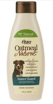 Oster Oatmeal Naturals Berry Blossom Insect Guard Shampoo