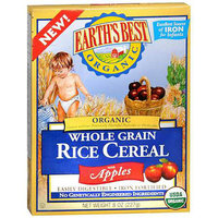 Earth's Best Organic Whole Grain Rice Cereal with Apples