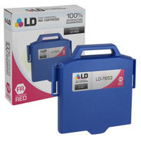 LD Compatible Replacement for Pitney Bowes 765-3 Red Inkjet Cartridge for use in Pitney Bowes DM200i, DM230, DM300i, DM300L, DM330, DM350, DM400i, and DM400L Personal Post Meters