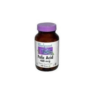 Bluebonnet Folic Acid 400 mcg Vegetable Capsules, 180 Count
