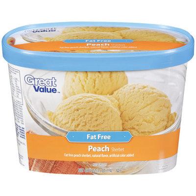 Great Value Peach Sherbet, 48 oz