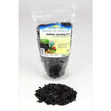 Organic Sunflower Sprouting Seeds (Un-Shelled)- 8 Oz - Handy Pantry Brand - Edible Seed, Gardening, Hydroponics, Growing Salad Greens, Sprouts & Food Storage - Sun Flower