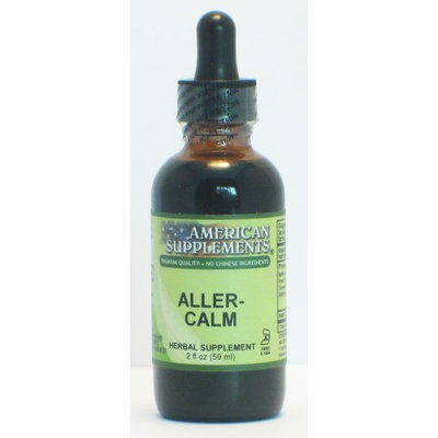Aller-Calm No Chinese Ingredients American Supplements 2 oz Liquid