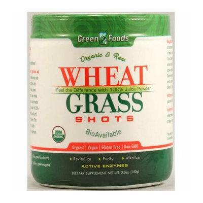 Green Foods Organic and Raw Wheat Grass Shots 5.3 oz