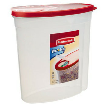 Rubbermaid Cereal Keeper - Clear/ Red (1.5 Gal)