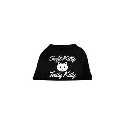 Ahi Softy Kitty Tasty Kitty Screen Print Dog Shirt Black XXL (18)