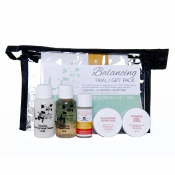 Lily Farm Fresh Skin Care 5 Piece Trial / Gift Pack, Balancing for Normal/Oily Skin, 1 set