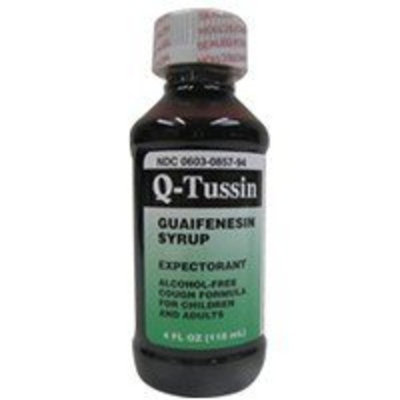 Q Tussin Syrup Alcohol Free Unboxed - 4 Oz