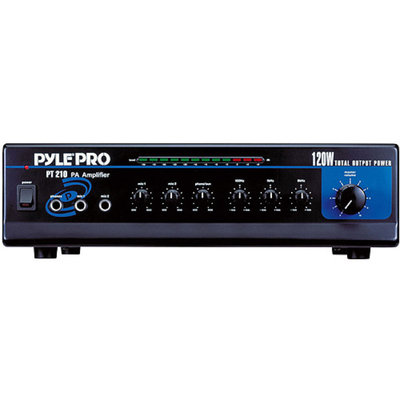 Pyle PT210 120W Microphone PA Mono Amplifier With 70V Output and Microphone Talkover