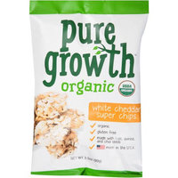 Pure Growth Organic Foods Pure Growth Organic White Cheddar Super Chips, 3.5 oz