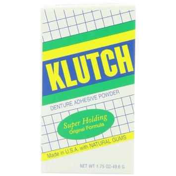 OAKHURST CO. Klutch Denture Adhesive Powder, 1.75 Ounce