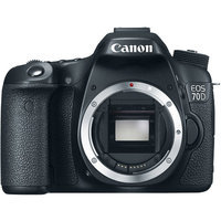 Canon Black EOS 70D Digital SLR Camera with 20.2 Megapixels (Body Only)