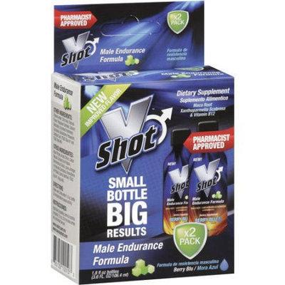 V Shot Male Endurance Formula, Berry Blu, 1.8 oz, 2ct