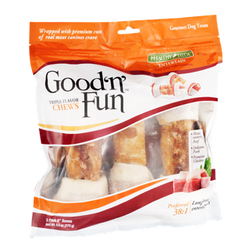 Healthy Hide Good 'n' Fun Chews Dog Treats - 3 CT