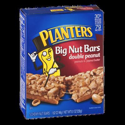 Planters Big Nut Bars Double Peanut